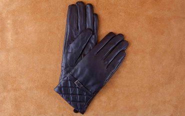 Găng tay nữ cảm ứng đai ngang họa tiết hình quả trám GT800-03L-D