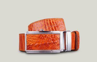 Dây thắt lưng da cá sấu khóa lăn da bụng DLA1200-NV