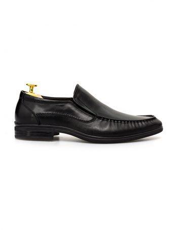 Giày nam da bóng phối chun hai bên hông GNLA79201-80-D