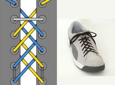 15 Kiểu buộc dây giày đẹp độc – Phần 2