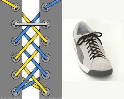 cách buộc dây giày black dài