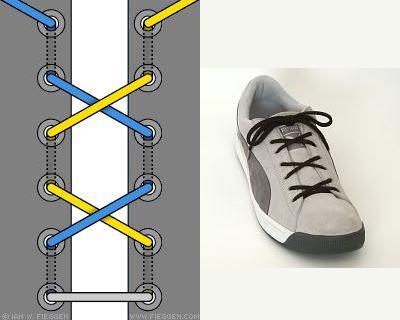 cách buộc dây giày thắt nơ