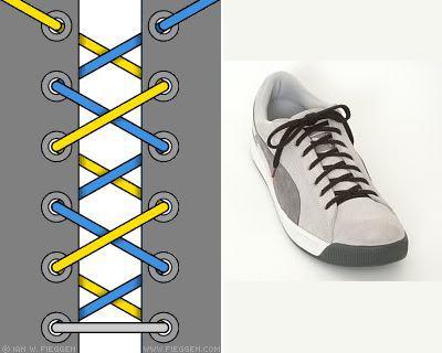 cách buộc dây giày chéo lên trên