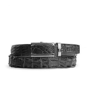 Thắt lưng cá sấu da bụng lưng DLA1200-01B-L-D