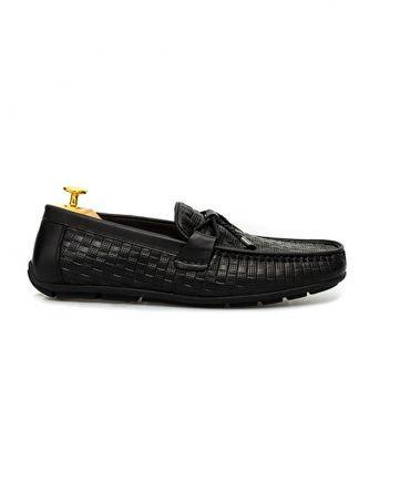 Giày lười nam hàng hiệu thắt nơ kẻ ô GNLA869-3-D