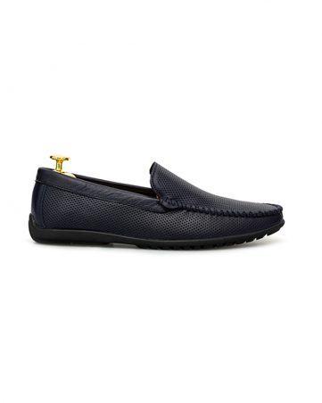 Giày lười đục lỗ bo viền chỉ nổi GNLACH568-X