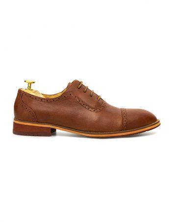 Giày da brogue mũi tròn loang GNLA3368-N