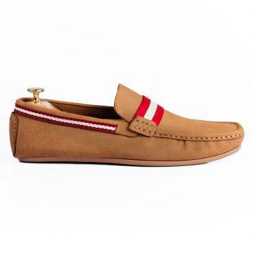 Giày lười viền đỏ trắng GNLA20375-6-V