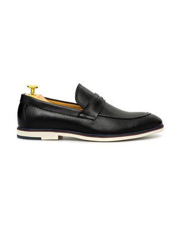 Giày lười nam đai ngang đục lỗ GNLAJX1596-9-D
