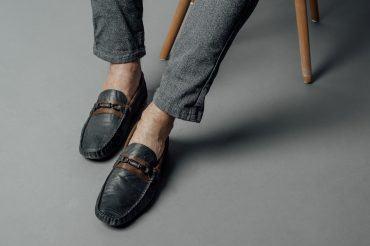 Giày lười thời trang đai ngang phối màu GNLA811-1-XD