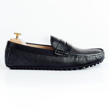 Giày lười nam họa tiết kẻ ca rô GNLA12996-D