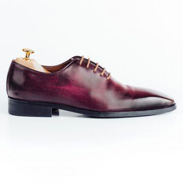 Giày tây nam thời trang da trơn cao cấp GNLA486-1-NDO