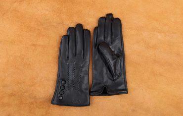 Găng tay da cừu cảm ứng thời trang GTLACUNU-01-D