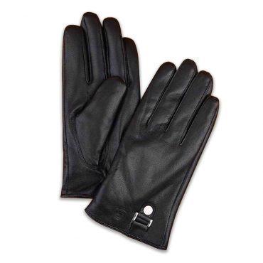 Găng tay da cừu cảm ứng cao cấp màu đen GTLACUNA-02-D