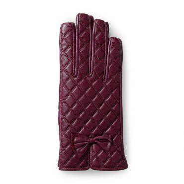Găng tay da nữ lót lông có cảm ứng GTLACUNU-02-T