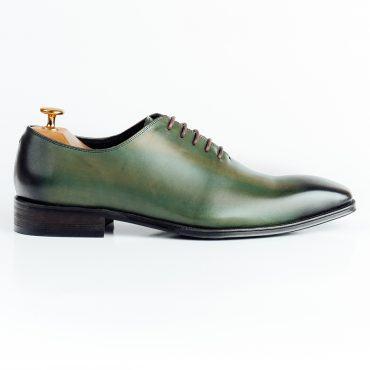 Giày tây nam pha màu xanh đen GNLA3027-M007-XD