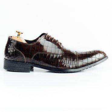 Giày tây nam giả vân da cá sấu GNLABC001-CF