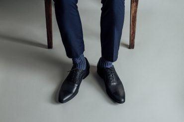 Giày nam đục lỗ vân da cách điệu GNLA9627-103-D