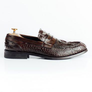 Giày lười dập vân da cá sấu nổi GNLA778-041-CF