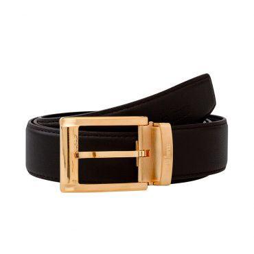 Thắt lưng da bò khóa vàng thời trang D590-0180705V