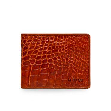 Ví da cá sấu màu nâu vàng VLA1600N-CB-NV