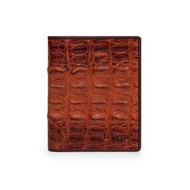 Ví da nam cá sấu màu nâu đỏ VLA1100D-LD-NDO