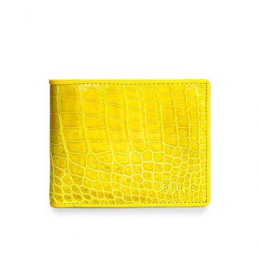Ví da cá sấu basic màu vàng độc đáo VLA1100-N-B-V