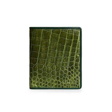 Ví da cá sấu xanh phối viền thời trang VLA1100D-CB-XC