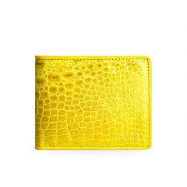 Ví da nam cá sấu 2 mặt vàng thời trang VLA1600-N-C-V