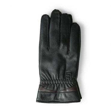 Găng tay da cảm ứng phối màu cổ tay GTLACUNA-15-D