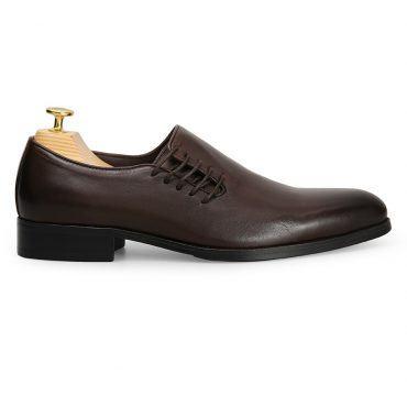 Giày nam buộc dây bên hông cách điệu GNLA2632-C05-CF
