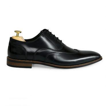 Giày tây nam da bóng viền chỉ cách điệu GNLA34-BT144-D