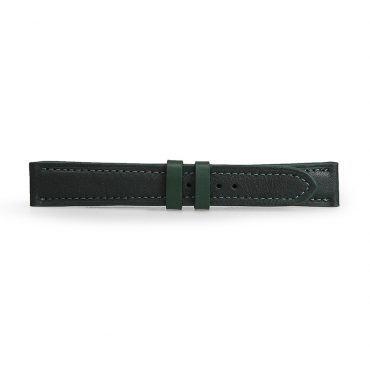 Dây da đồng hồ da bò xanh rêu DDHLF-01-XR