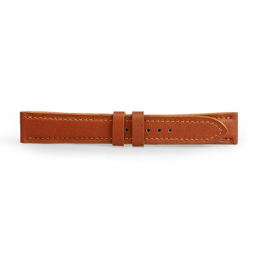 Dây đeo đồng hồ da bò nâu vàng DDHLF-01-NV
