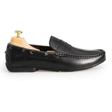 Giày da lười nam đai ngang GNLA19-5-D