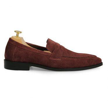 Giày nam Penny Loafer da lộn GNLA0828-N