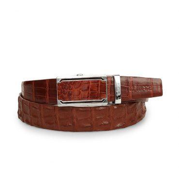 Thắt lưng cá sấu nam màu nâu đỏ DLA1200-04B-L-ND