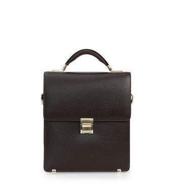 Cặp da nam màu nâu dáng đứng Briefcase TLA1001-N