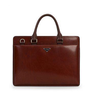 Túi da công sở nam màu đỏ TLA2003-DO