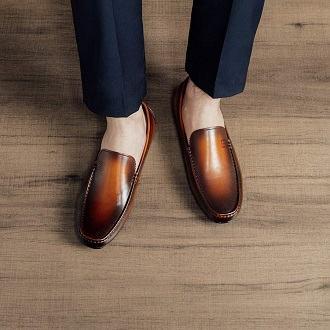 giày lười đi với quần âu