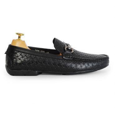 Giày lười Penny Loafer họa tiết đan chéo GNLA2235-D