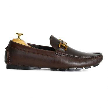 Giày Bit Loafer nam màu nâu GNLA8868-N