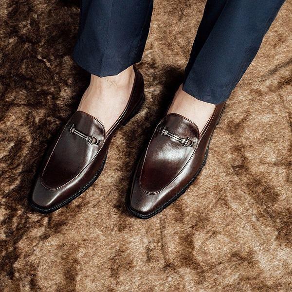 giày bit loafer nam