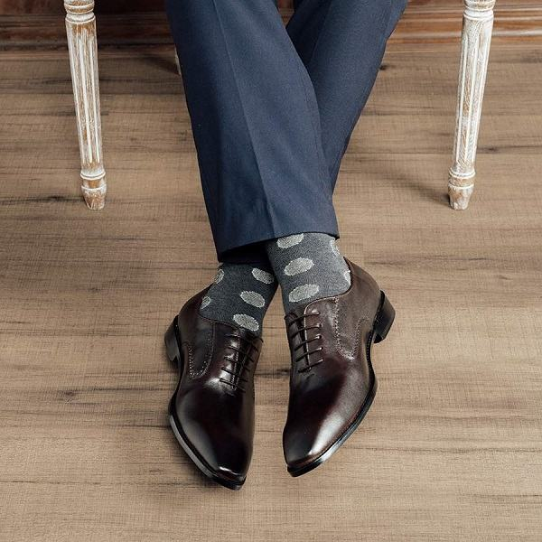 giày oxfrod nam quarter brogue