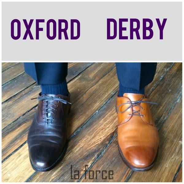 giày oxford vs derby