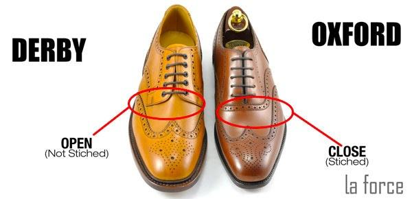 phân biệt giày oxford và derby