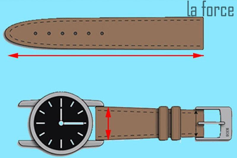cách đo dây đồng hồ