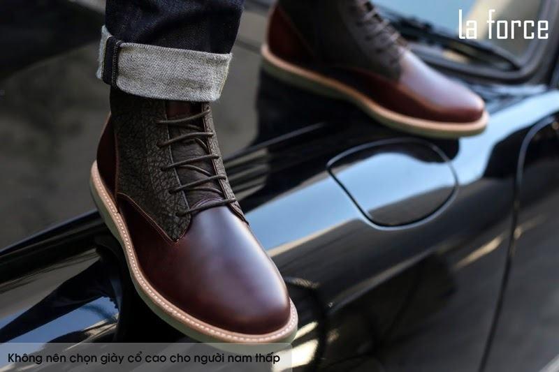 cách chọn giày nam cho người thấp béo
