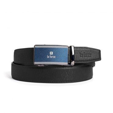 Dây lưng quần tây khóa lăn D590-1107D đen vân