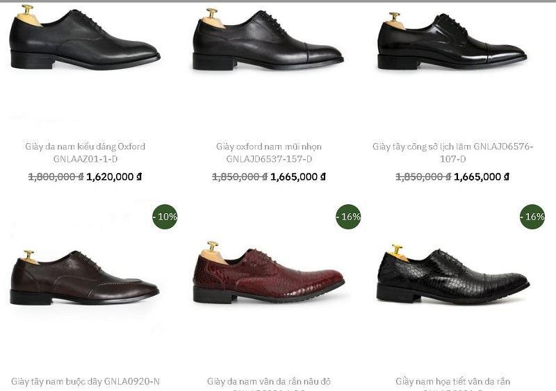 giày da bóng nam